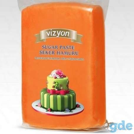 Мастика для торта оранжевая, фотография 1