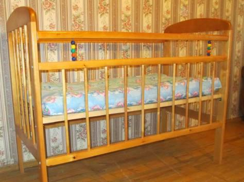 Продам детскую кроватку в идеальном состоянии с матрасом, фотография 1