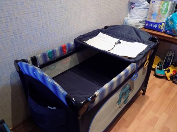 Продам б/у кроватку-манеж Capella (4х1), фотография 3