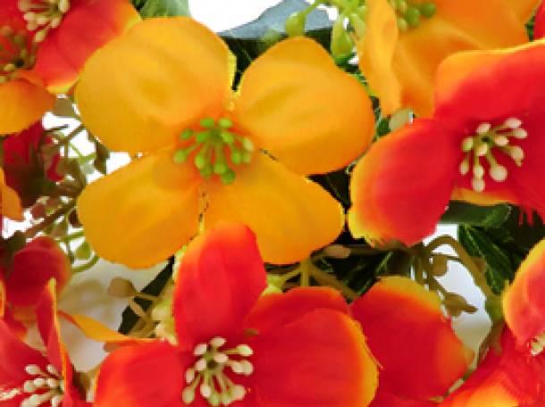 Продам искусственные цветы фиалка оптом и в розницу, фотография 1