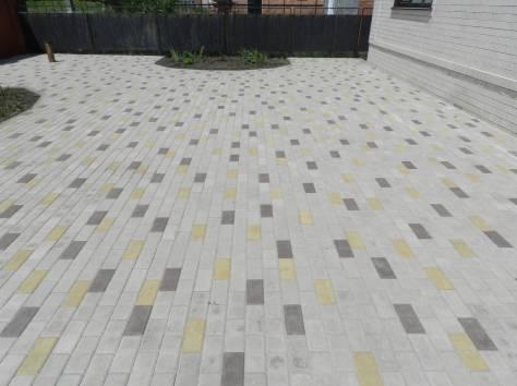 Производство вибропрессованной тротуарной плитки, бордюров, фотография 1