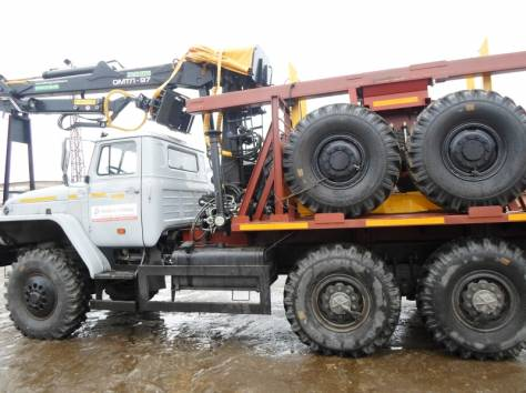 Лесовоз Урал 55571, без пробега 2017 г.в. с новым манипулятором Омтл-97, лизинг, фотография 2