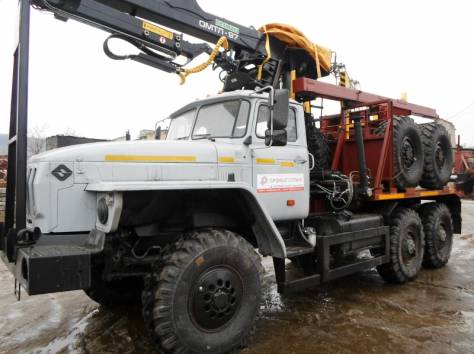 Лесовоз Урал 55571, без пробега 2017 г.в. с новым манипулятором Омтл-97, лизинг, фотография 3