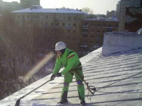 услуги по уборке снега с крыш, очистке кровли от снега, наледи и сосулек., фотография 1