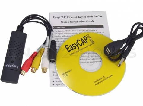 Устройство видеозахвата EasyCAP USB 2.0 DVR stereo, s-video, фотография 2