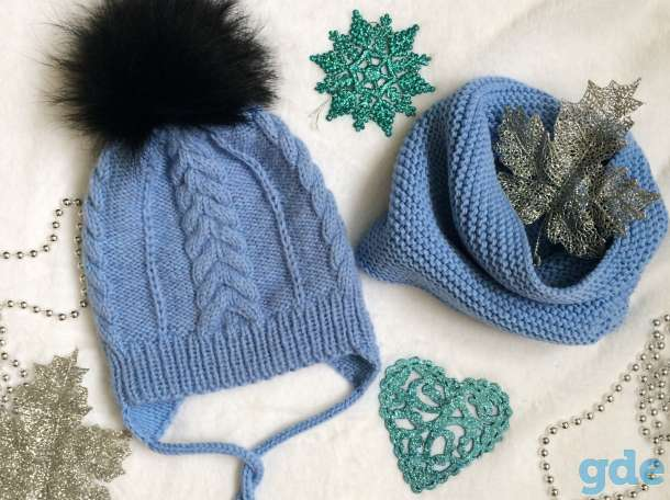 Зимняя шапка и снуд. Ручная работа, фотография 2