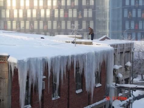 Сброс снега с крыш. Чистка от сосулек и наледи, фотография 2