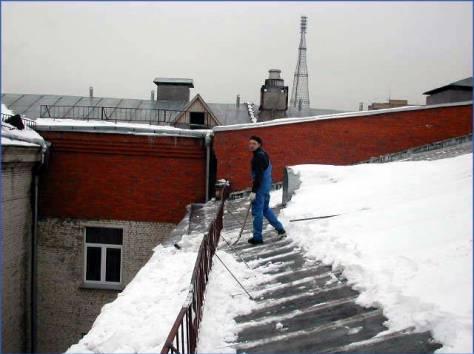 Сброс снега с крыш. Чистка от сосулек и наледи, фотография 4