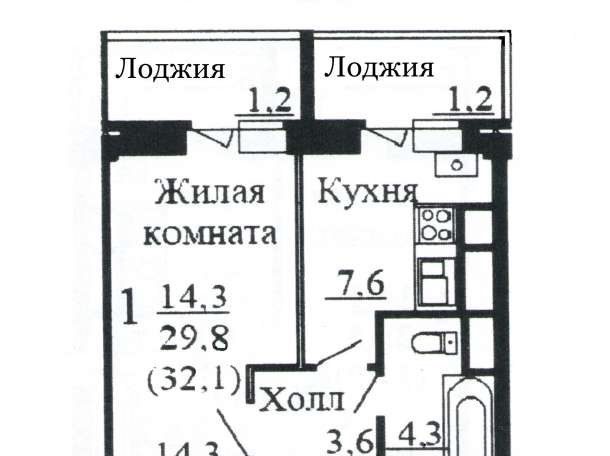 Сдам, на длительный срок, 1-комнатную квартиру - новостройка на 2-м этаже 9-этажного монолитно-кирпичного дома , фотография 3