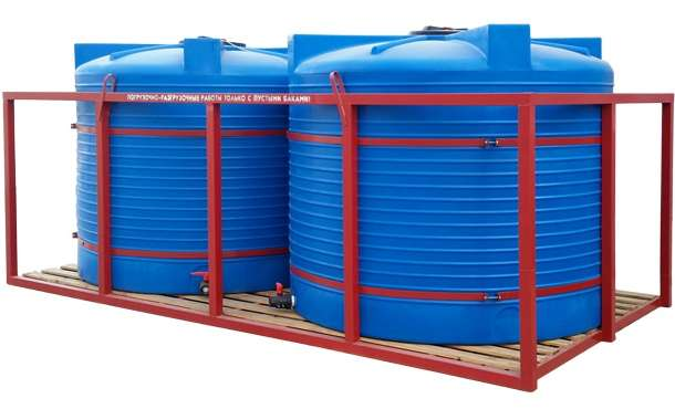 Емкости 5000 литров в металлическом каркасе (