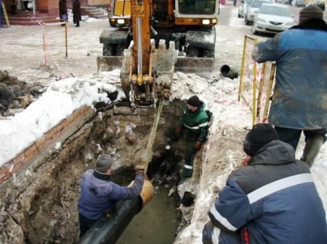 Прокладка вновь строящихся сетей водопровода и канализации, фотография 1