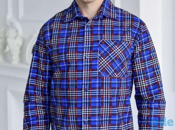 Рубашки и пижамы  утепленные фланелевые для мужчин. Свое производство., фотография 2