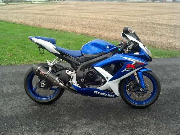 2009 SUZUKI GSXR 600 RR синий и белый для продажи, фотография 2