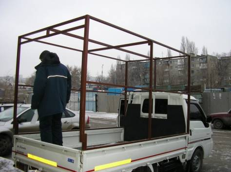 Тенты и каркасы на автомобили газ, тент каркас на газ, изготовление каркасов на грузовой автомобиль, фотография 7