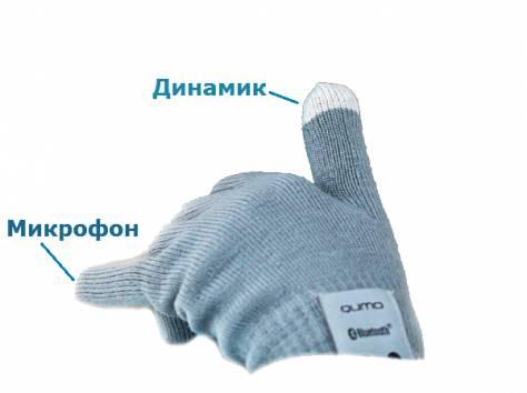 Перчатки со встроенной Bluetooth-гарнитурой, фотография 1