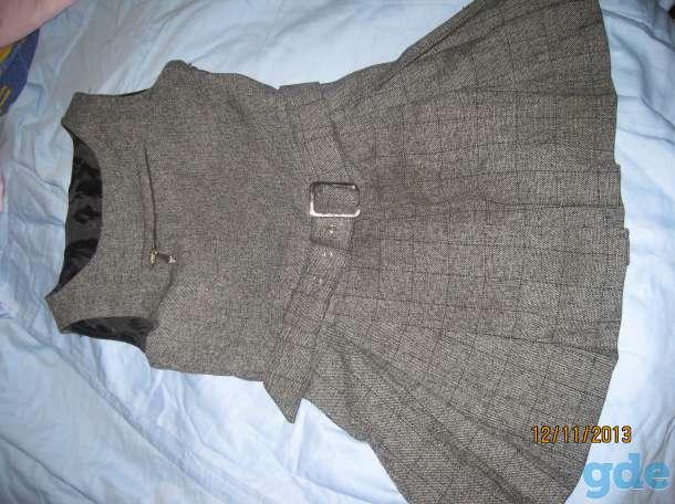 Платье серое 1-4 класс. Можно для школы. Длина  60 см. Ширина 31 см, фотография 4