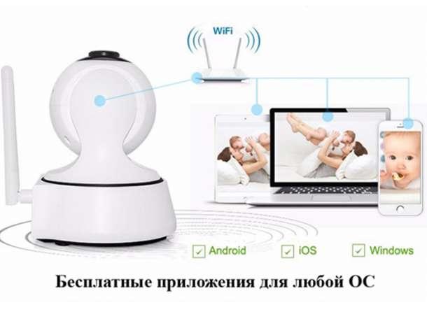 Wi-Fi поворотная камера видеонаблюдения с записью видео и датчиком движения, фотография 4