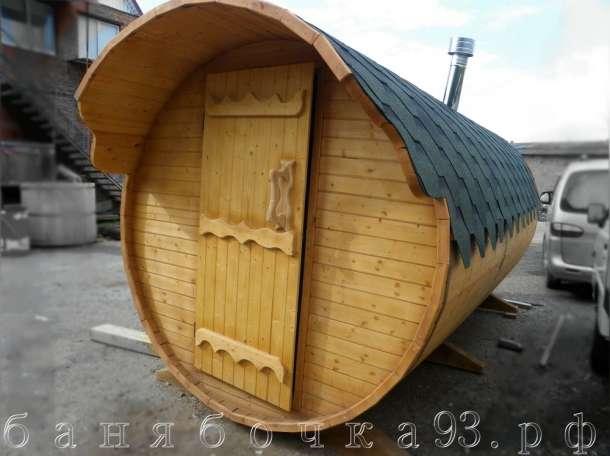 Баня-бочка 4 метра, фотография 1