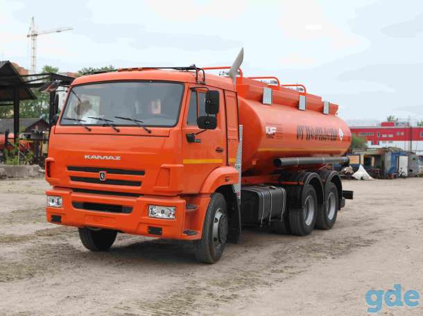 Топливозаправщик КАМАЗ 65115 АТЗ-14 (новый бензовоз), фотография 1