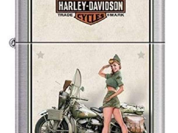 Зажигалка Zippo 9939 Harley Davidson Military US Army, фотография 1