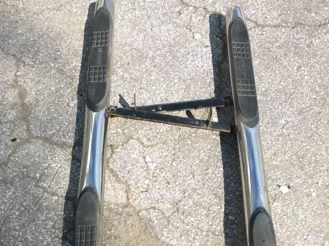 Пороги труба с накладками d76 Ниссан X-TRAIL T31 б/у, фотография 2