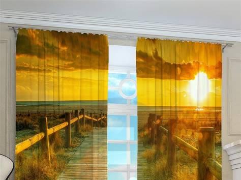 Фото шторы с 3D рисунком, фотография 1