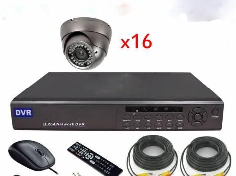 Комплект видеонаблюдения на 4,8,16 камер, фотография 1