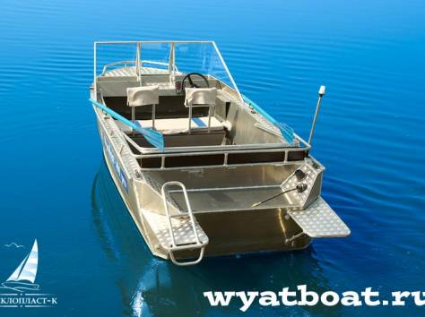 Алюминиевая моторная лодка (катер) Wyatboat-490 Pro , фотография 1