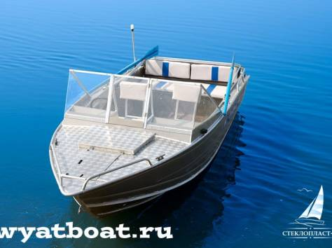 Алюминиевая моторная лодка (катер) Wyatboat-490 Pro , фотография 3