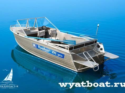 Алюминиевая моторная лодка (катер) Wyatboat-490 Pro , фотография 4