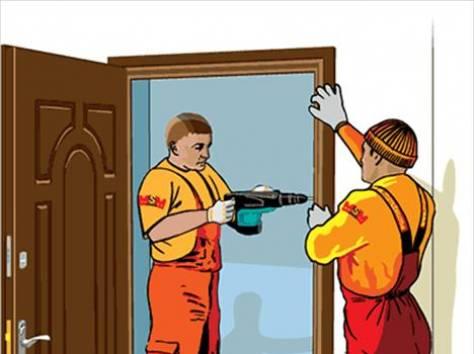 услуги по установка металлических дверей в москве