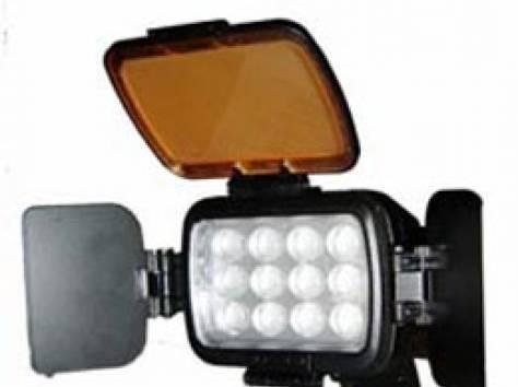 Накамерный свет + аккумулятор , фотография 1