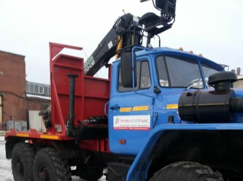 Лесовозный тягач Урал 5557 2006 г.в. с кму ОМТЛ-70.02, фотография 2