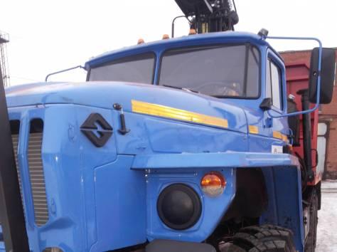 Лесовозный тягач Урал 5557 2006 г.в. с кму ОМТЛ-70.02, фотография 5