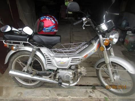 Продается  скутер «ОМАКС»  СМ50Q2 , объём 50 куб.см. и  два замечательных мотошлема, фотография 1