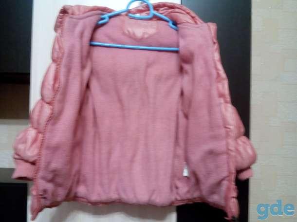 Коралловая осенняя куртка на девочку, см (4-6 лет), фотография 4