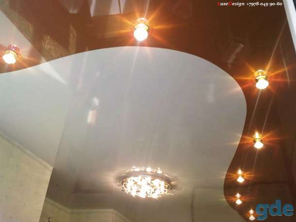 Комбинированные натяжные потолки -красота в вашем доме, фотография 4