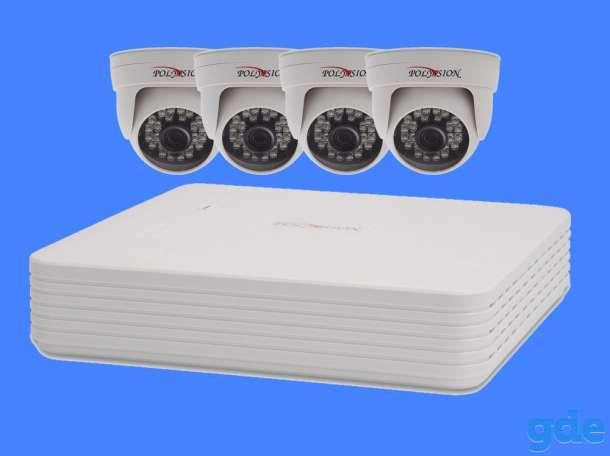 Комплект видеонаблюдения 4 внутренние камеры 2мп, фотография 1