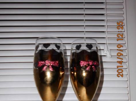 Фужеры для шампанского (свадебные), фотография 2