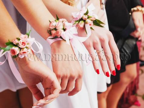 Цветы на руку свадьба своими руками