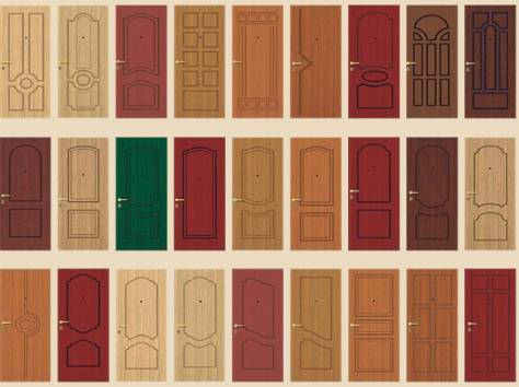 образцы отделка металлических дверей