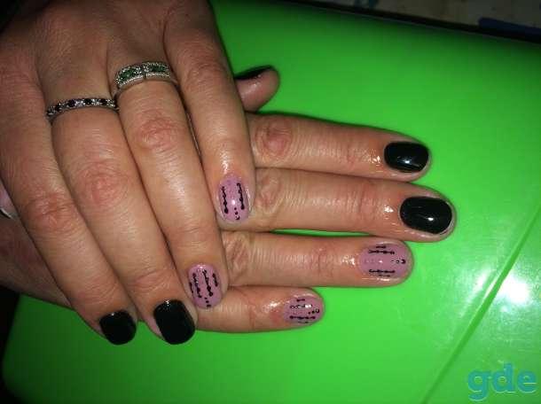 Гель-лак, наращивание ногтей, фотография 5