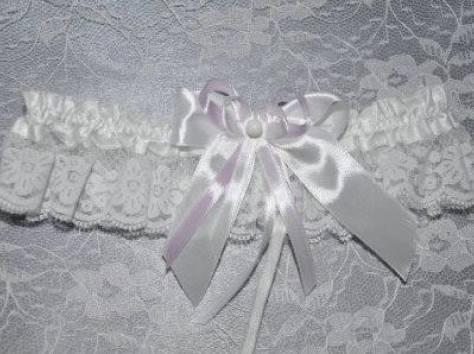 Подвязка на ножку невесты, фотография 6