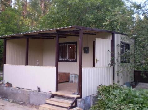 Дачные домики с обшивкой из цветного профлиста., фотография 5