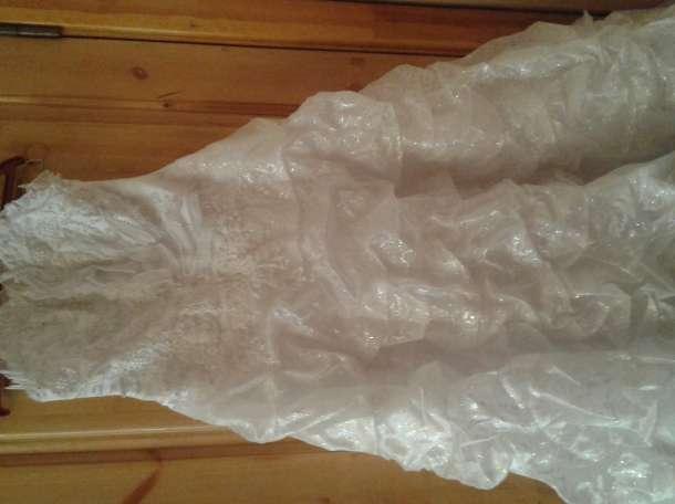 Продам свадебное платье,б/у.46 размер., фотография 1
