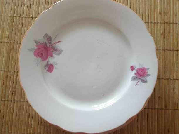 6 тарелочек под второе, диаметр 20 см, Дулевский фарфоровый з-д., фотография 1