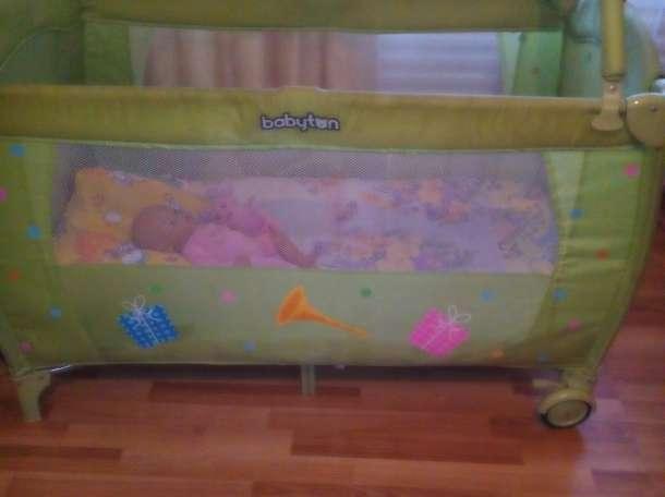 Кровать манеж+матрасик в подарок, фотография 1