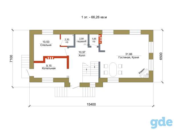 Проект дома для узкого участка 135 кв. м / AK-83, фотография 5