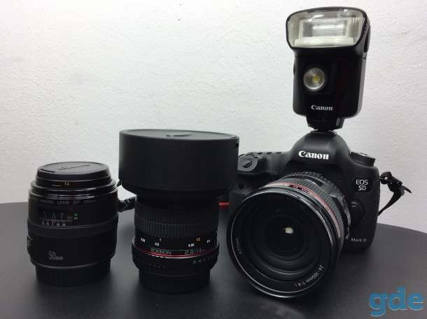 Canon EOS 5D Mark III DSLR Camera with 24-105mm f/4L Lens Deluxe Kit, фотография 1