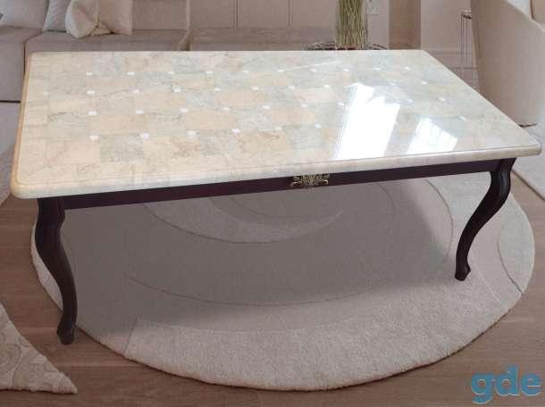 Мозаичные столы из натурального мрамора, фотография 2